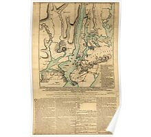 American Revolutionary War Era Maps 1750-1786 193 A plan of New York Island with part of Long Island Staten Island & east New Jersey with a particular Poster