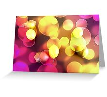 Lemons floating with bubbles  Greeting Card