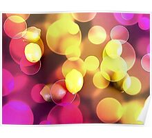 Lemons floating with bubbles  Poster
