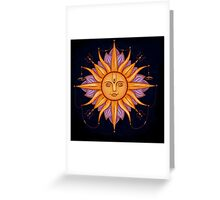 Sun with face Greeting Card
