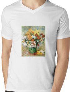 Renoir Auguste - Bouquet Of Chrysanthemums  Mens V-Neck T-Shirt