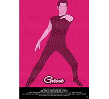 Grease Travolta - Movie Poster Photographic Print