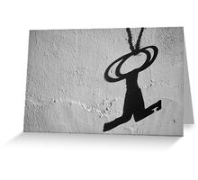 Forgotten Keys Silhouette Greeting Card