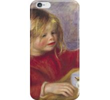 Renoir Auguste - Claude Renoir At Play  iPhone Case/Skin