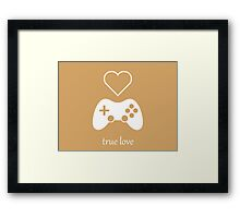 Video Gamer - True Love Framed Print
