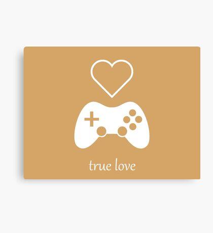 Video Gamer - True Love Canvas Print