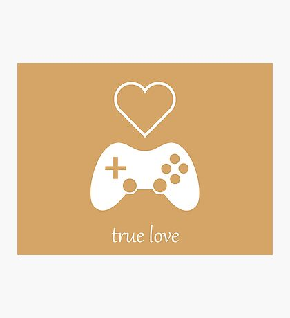 Video Gamer - True Love Photographic Print
