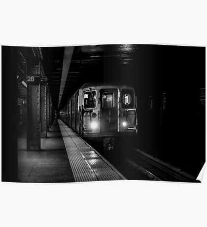 Black subway Poster