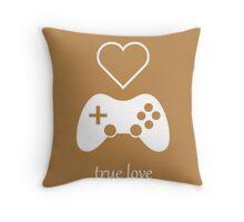 Video Gamer - True Love Throw Pillow