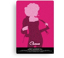 Grease Olivia - Movie Poster Canvas Print