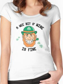 A wee bit of wine is fine Women's Fitted Scoop T-Shirt