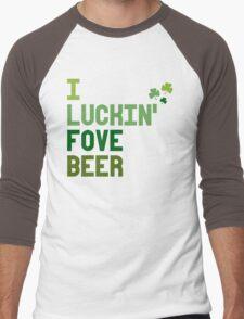 I Luckin Fove Beer Men's Baseball ¾ T-Shirt