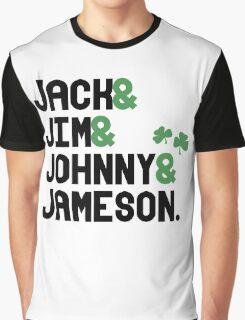 Jack & Jim & Johnny & Jameson Graphic T-Shirt