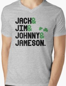 Jack & Jim & Johnny & Jameson Mens V-Neck T-Shirt