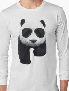 Cool Panda Bear Long Sleeve T-Shirt