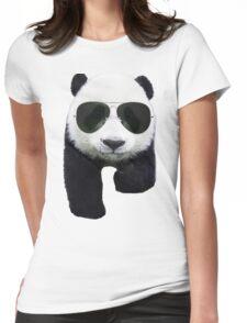 Cool Panda Bear Womens Fitted T-Shirt