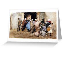 George Hendrik Breitner - Distribution of Soup Greeting Card