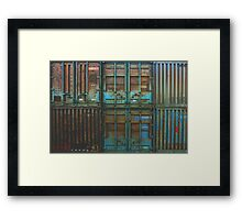 Rusty container Framed Print
