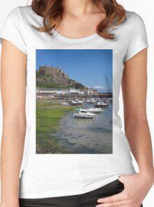 Mont Orgueil, Gorey, Jersey Women's Fitted Scoop T-Shirt