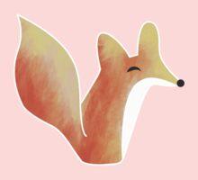 Cute Fox Graphic Design One Piece - Long Sleeve