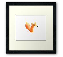 Cute Fox Graphic Design Framed Print