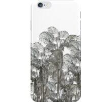 Vintage black white botanical amazon palm trees iPhone Case/Skin