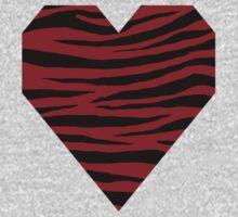 0110 Heidelberg Red or Carmine Tiger One Piece - Long Sleeve