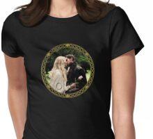 Captain Swan Camelot Garden Digital Watercolor Design 1 Womens Fitted T-Shirt