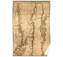 American Revolutionary War Era Maps 1750-1786 278 A topographical map of Hudsons River with the channels depth of water rocks shoals &c and the country Poster