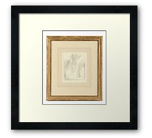 George Romney , Study for a family portrait Framed Print
