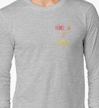 Wake up and Smile (grey) Long Sleeve T-Shirt