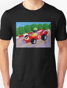 Black Labrador Racing Driver Unisex T-Shirt