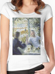 Renoir Auguste - Lunch At The Restaurant Fournaise The Rowers Lunch Women's Fitted Scoop T-Shirt