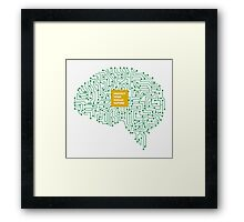 protect your human nature Framed Print