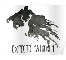 Expecto Patronum Stag Outline On Dementor Poster