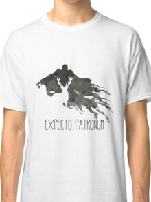 Expecto Patronum Stag Outline On Dementor Classic T-Shirt