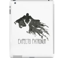 Expecto Patronum Stag Outline On Dementor iPad Case/Skin