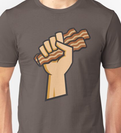 Bacon Battlecry Communist Fist Unisex T-Shirt