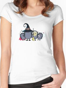Halloween party crew Women's Fitted Scoop T-Shirt