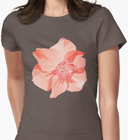 Pretty Pink Daffodil Graphic Womens Fitted T-Shirt