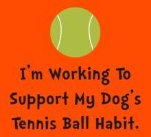 Dogs Tennis Ball Kids Tee