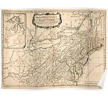 American Revolutionary War Era Maps 1750-1786 033 A general map of the middle British colonies in America 03 Poster