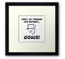 Hockey Goals Framed Print