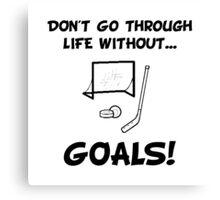 Hockey Goals Canvas Print