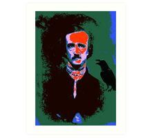 Edgar Allan Poe Pop Art 1 Art Print