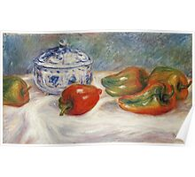 Renoir Auguste - Still Life With A Blue Sugar Bowl And Peppers Poster