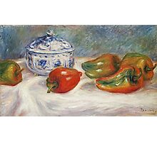 Renoir Auguste - Still Life With A Blue Sugar Bowl And Peppers Photographic Print
