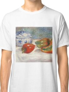 Renoir Auguste - Still Life With A Blue Sugar Bowl And Peppers Classic T-Shirt
