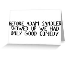 Comedian Funny Stand Up Comedy Movies Greeting Card