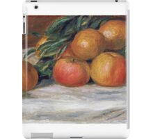 Renoir Auguste - Still Life With Apples And Oranges iPad Case/Skin